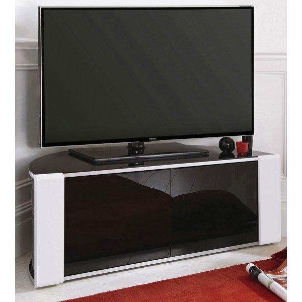 MDA Designs Sirius 850 Black and White Corner TV Cabinet