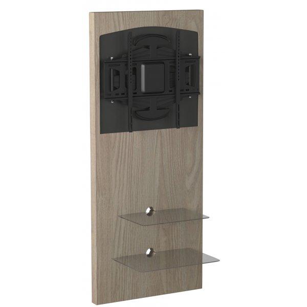 Alphason ADME/2S-LO Mercury Slimline Wall-mounted TV Stand - Light Oak