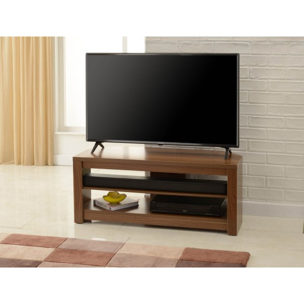 """TNW Memphis Corner TV Stand For Up To 60\"""" TVs - Walnut"""