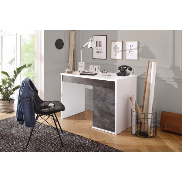 Maja 4059 3928 Club Icy White and Slate Grey Laptop Desk