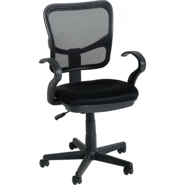 DSK Clifton Black Computer Chair with Arms