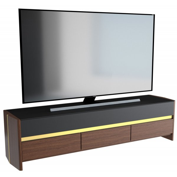 "AVF FS1800VENWB Venturi Flat TV Stand For Up To 90"" - Walnut and Black 1800mm"