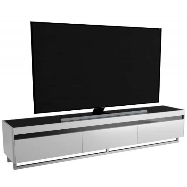 """AVF FS2000BERGW Oberon Flat TV Stand For Up To 95\"""" - Gloss White 2000mm"""