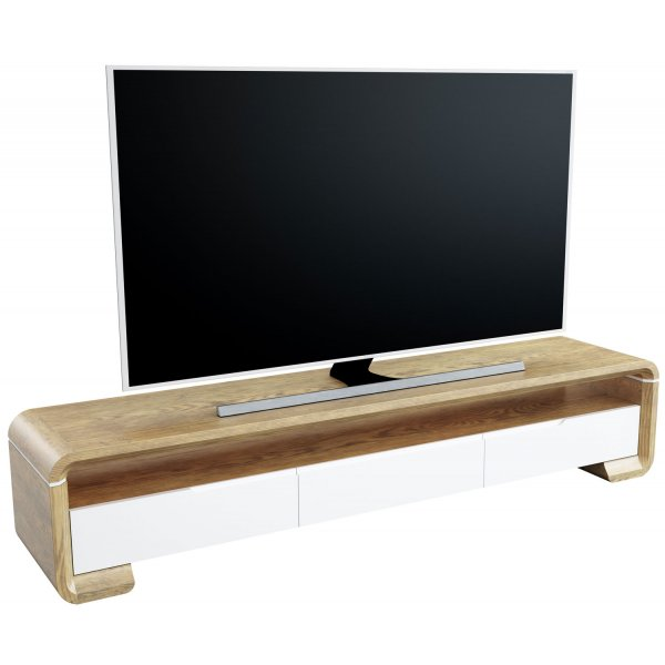 "AVF FS2000CALO Calisto Flat TV Stand For Up To 95"" - Oak and White 2000mm"
