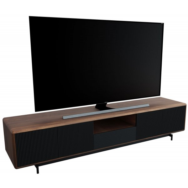 "AVF FS2000PROW Proxima Flat TV Stand For Up To 95"" - Walnut and Black 2000mm"