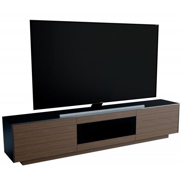 """AVF FS2000TORW Tormond Flat TV Stand For Up To 95\"""" - Walnut 2000mm"""