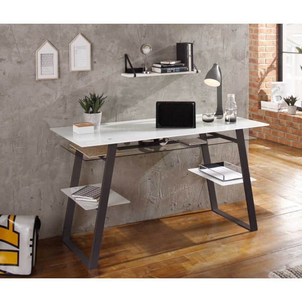 Maja 5006 9046 Kibo Glass Home Study Desk White