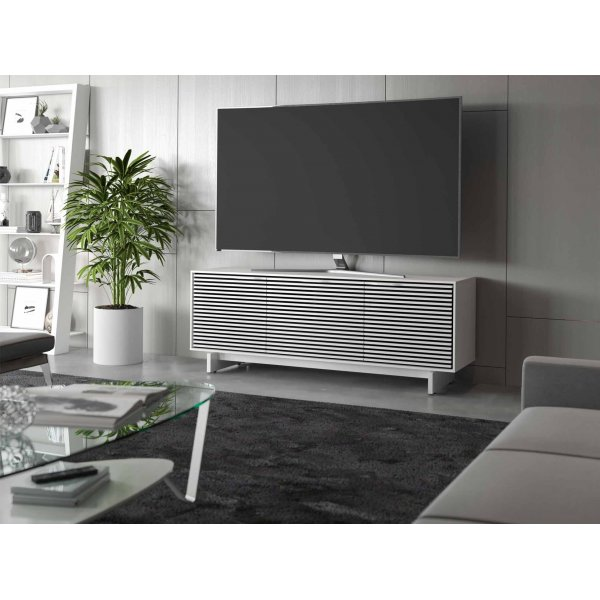 """BDI Align 7477 Modern TV Stand, Media Cabinet & Credenza for up to 70\"""" TVs - Satin White"""