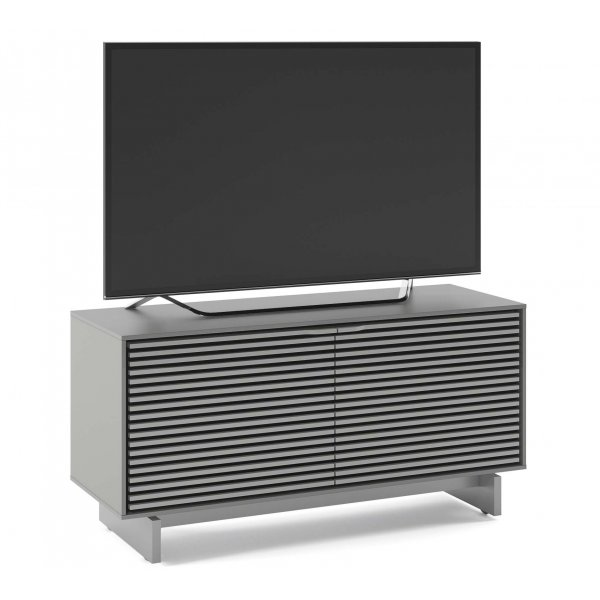"""BDI Align 7478 Small Modern TV Stand & Media Console for up to 60\"""" TVs - Fog Grey"""