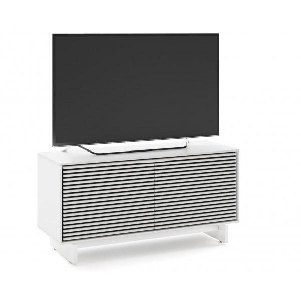 """BDI Align 7478 Small Modern TV Stand & Media Console for up to 60\"""" TVs - Satin White"""