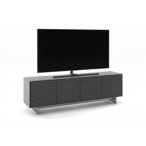 """BDI Align 7479 Large Modern TV Stand, Media Console & Credenza for up to 85\"""" TVs - Fog Grey"""