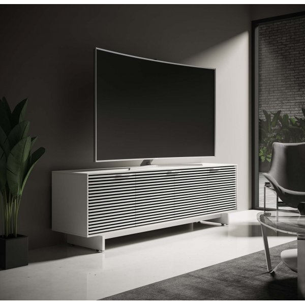 """BDI Align 7479 Large Modern TV Stand, Media Console & Credenza for up to 85\"""" TVs - Satin White"""