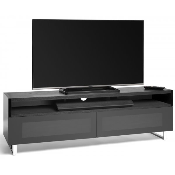 """AVF PM160WB+ Panorama Dual Top TV Stand For TVs up to 80\"""" - Black/Walnut"""