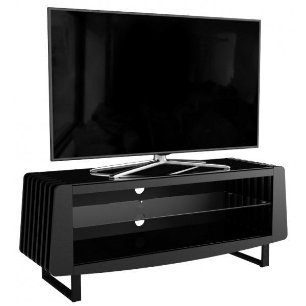 """AVF Reflections Cove FS1250COVBB Black TV Stand For Up To 60\"""" TVs"""