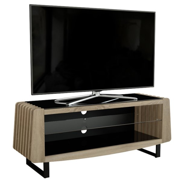 """AVF Reflections Cove FS1250COVOWB Whitewashed Oak TV Stand For Up To 60\"""" TVs"""