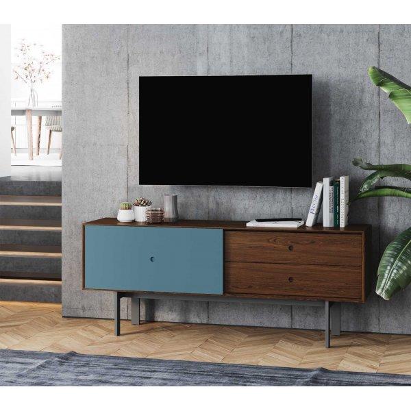 "BDI Margo 5229 Light Media Console & Storage Cabinet for up to 82\"" TVs - Toasted Walnut & Marine"