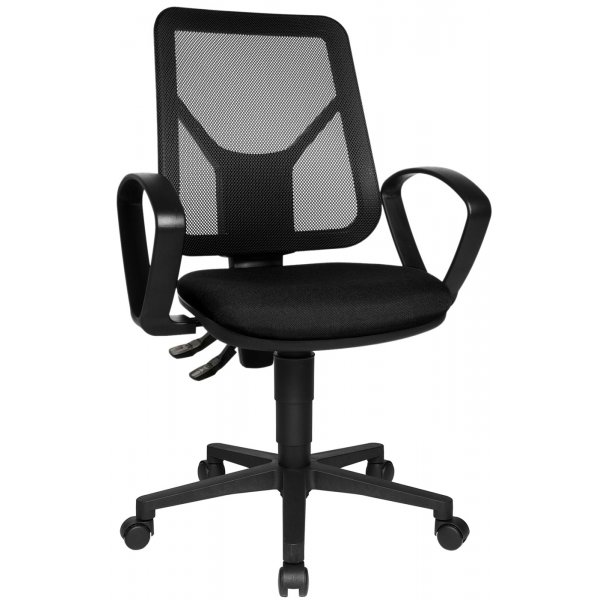 Topstar Airgo Net Mesh Back Office Chair with Arms - Black