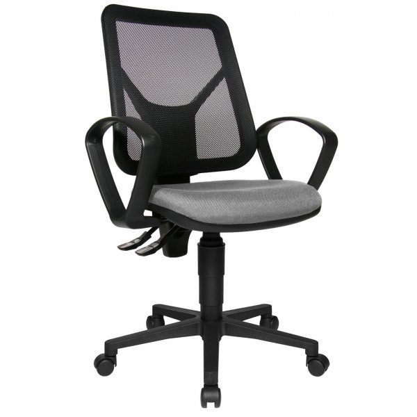 Topstar Airgo Net Mesh Back Office Chair with Arms - Black/Grey