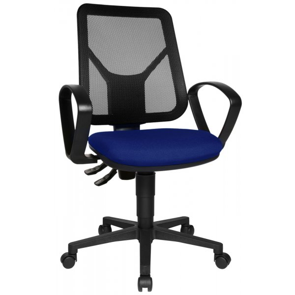 Topstar Airgo Net Mesh Back Office Chair with Arms - Black/Blue