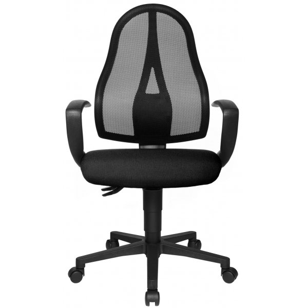 Topstar Open Point Mesh Back Office Chair with Arms - Black