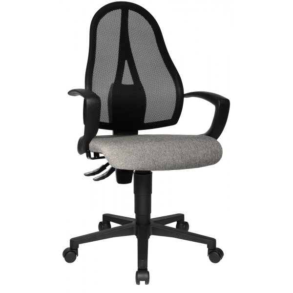 Topstar Open Point Mesh Back Office Chair with Arms - Black/Grey