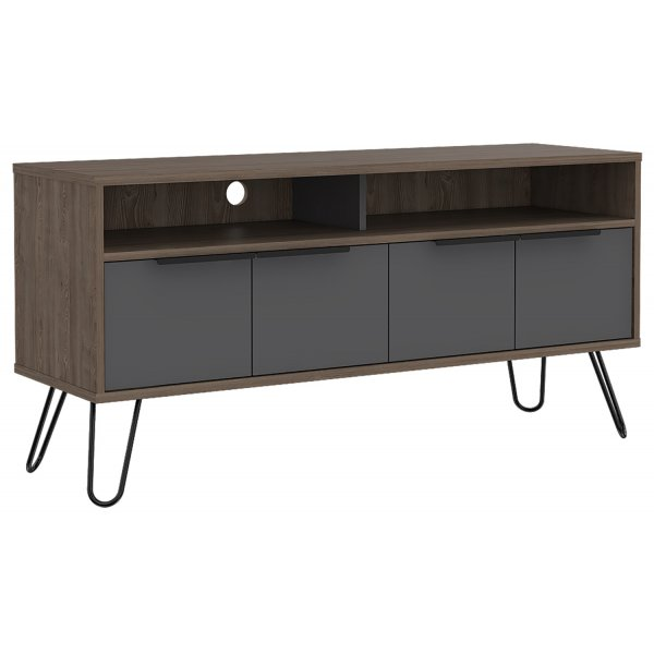"Core Products VG912 Vegas Large TV Unit for up to 60"" TVs - Bleached Oak and Grey"