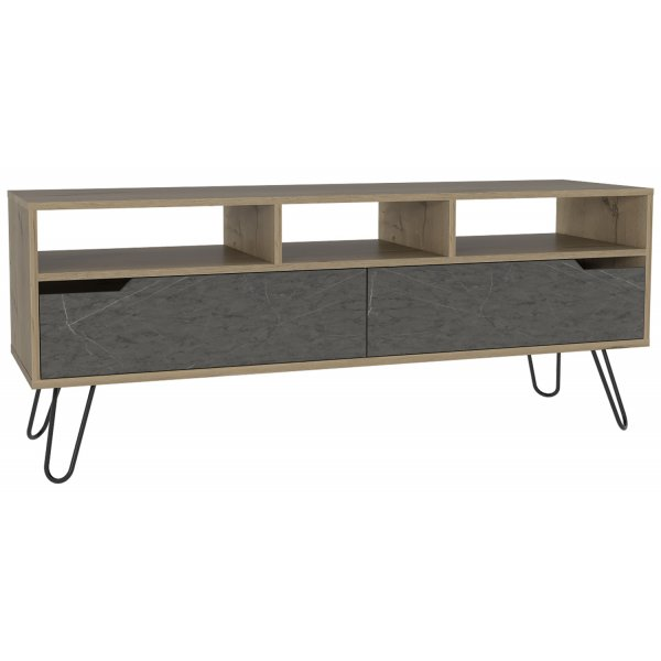 "Core Products MN912 Manhattan Large TV Unit for up to 60"" TVs - Bleached Pine"
