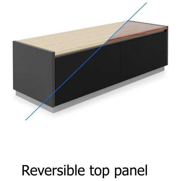 Alphason Horizon ADHO1200 TV Cabinet with Oak/Walnut Reversible Top