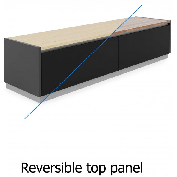 Alphason Horizon ADHO1600 TV Cabinet with Oak/Walnut Reversible Top