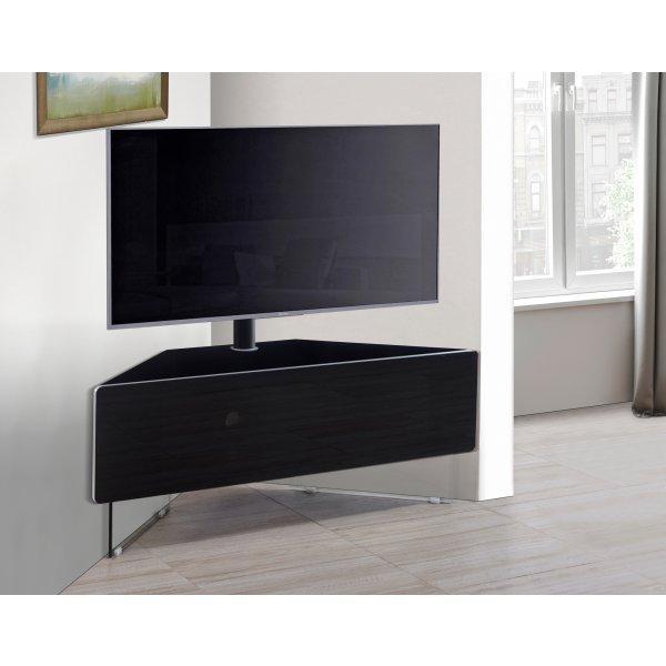 MDA Antares Black Corner Cantilever TV Cabinet