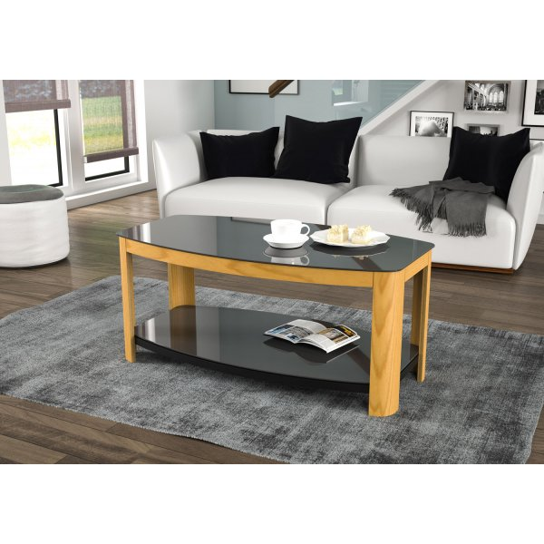 AVF Affinity FT100AFFO Oak and Black Coffee Table