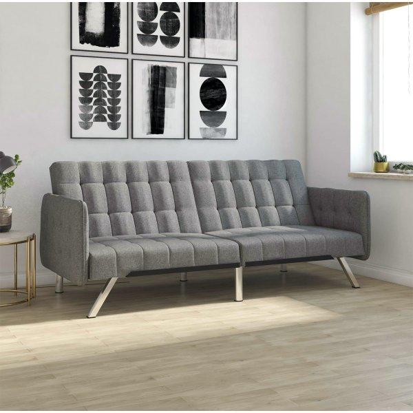 Emily Convertible Clic Clac Sofa Bed - Grey Linen
