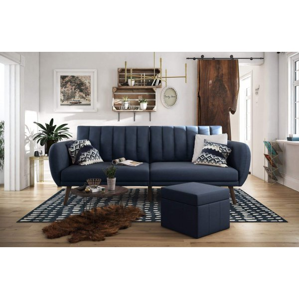 Brittany Sofa Bed- Navy Blue