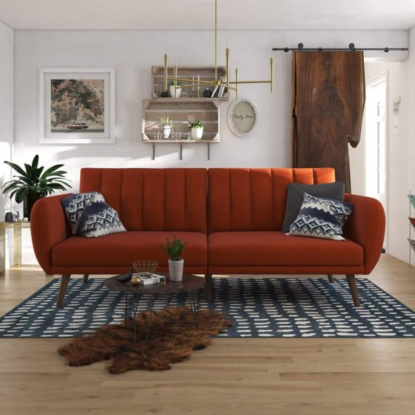 Brittany Sofa Bed- Orange