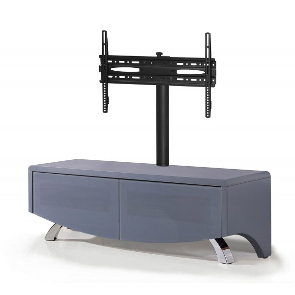 """MDA Wave 1200 Hybrid Complete TV Stand For Up To 60\"""" - Satin Grey"""