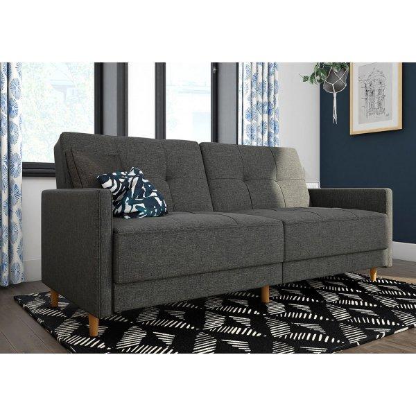 Andora Sprung Sofa Bed- Grey Linen