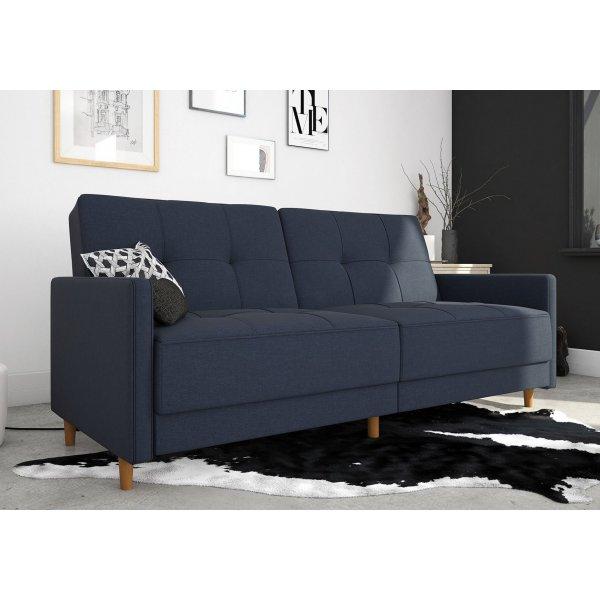 Andora Sprung Sofa Bed- Navy Blue Linen