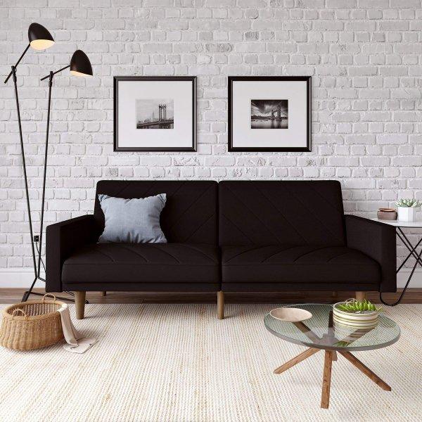 Paxon Sofa Bed- Black Linen