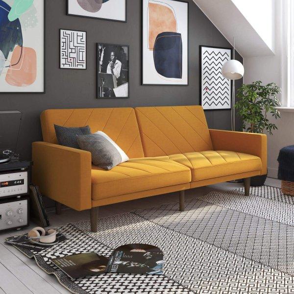 Paxon Sofa Bed- Mustard Linen