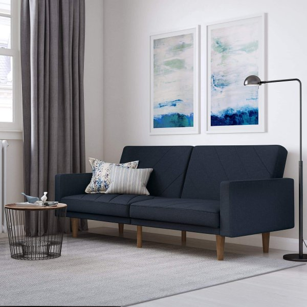 Paxon Sofa Bed- Navy Blue Linen