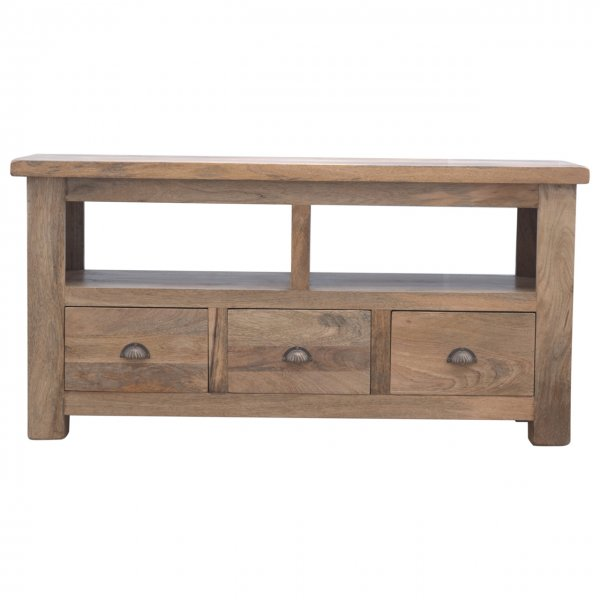 """Mason and Bailey Open Slot 3 Drawer Media Unit for up to 60\"""" TVs"""