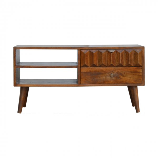 """Mason and Bailey Chestnut Prism Media Unit for up to 42\"""" TVs"""