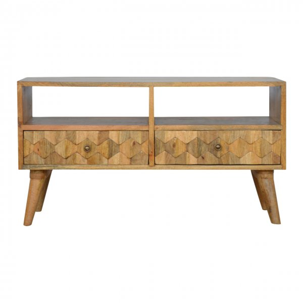 """Mason and Bailey Pineapple Carved Media Unit for up to 40\"""" TVs"""