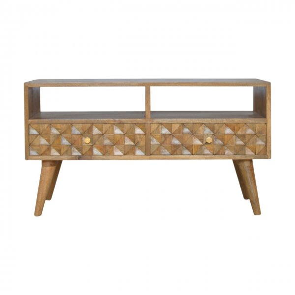 """Mason and Bailey Diamond Carved Media Unit for up to 42\"""" TVs"""