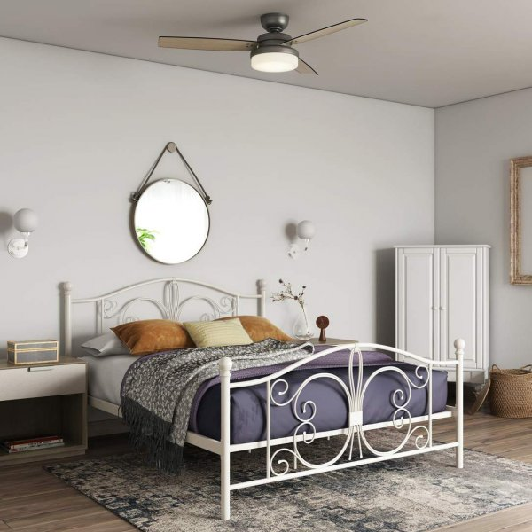 Bombay Metal Double Bed in White