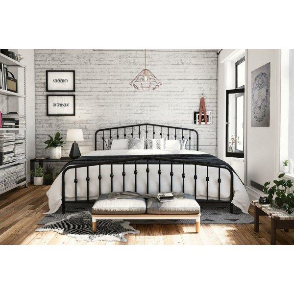 Bushwick Metal King Bed in Black