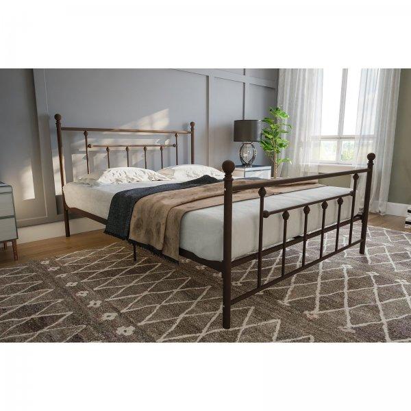 Manila Metal Double Bed in Bronze