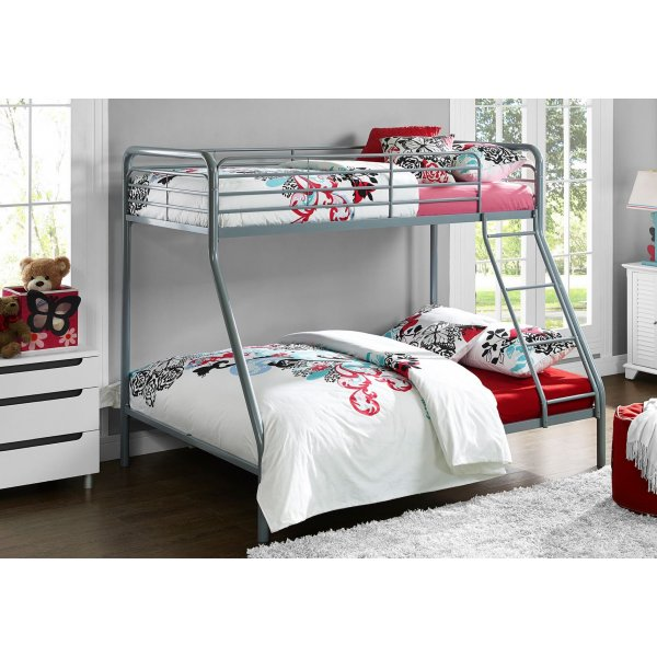 Single Over Double Bunk Bed- Grey