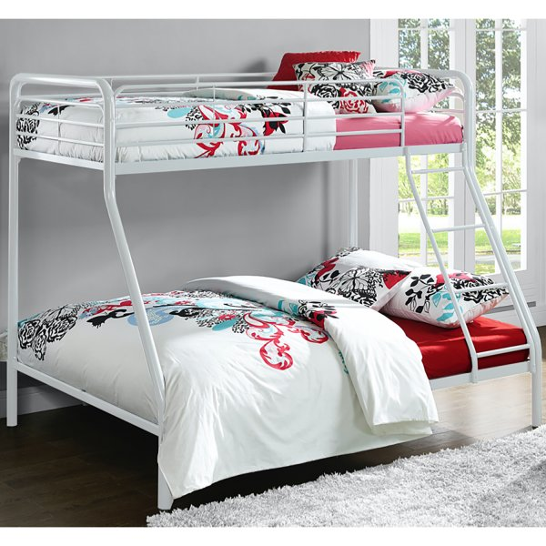 Single Over Double Bunk Bed- White