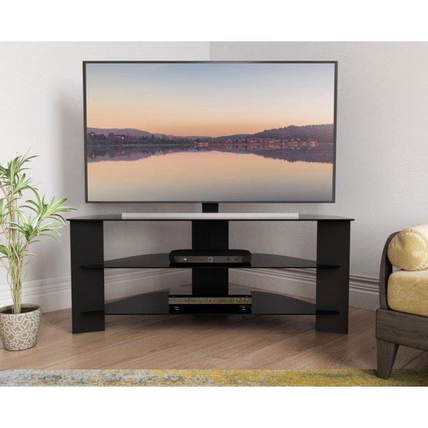 "AVF Varano FS1100VARBB Black Corner TV Stand For up to 55\"" TVs"